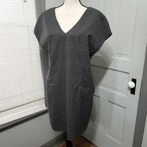 Elvi Pocket Plaid Drop Shoulder Shift Dress